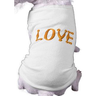 Gold 3D LOVE Pet Clothes