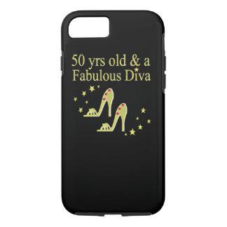 GOLD 50 & FABULOUS DIVA DESIGN iPhone 8/7 CASE