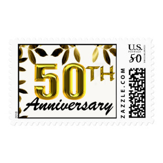 Gold 50th Anniversary Postage Stamps