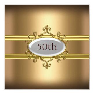gold 50th Birthday Anniversary Card