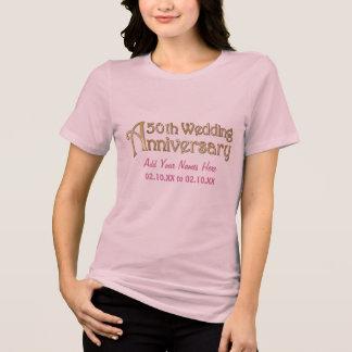 Gold 50th Wedding Anniversary Tshirt
