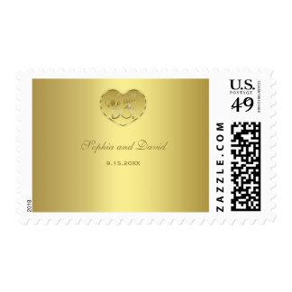 Gold 50th Wedding Anniversary We still DO Postage