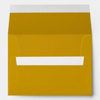 Gold 5x7 Blank Envelopes