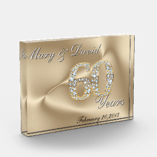 Gold 60 Year Anniversary Award