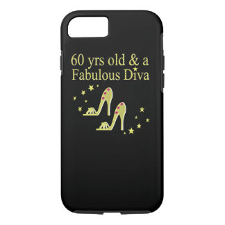 GOLD 60 YRS OLD AND A FABULOUS DIVA iPhone 8/7 CASE