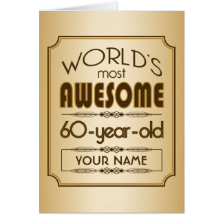 Gold 60th Birthday Celebration World Best Fabulous Card
