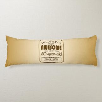 Gold 60th Birthday Celebration World Best Fabulous Body Pillow