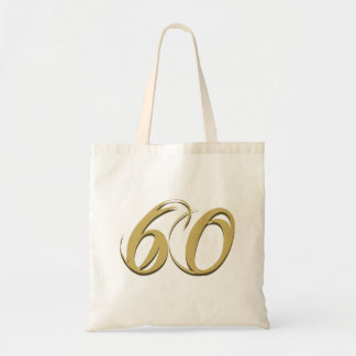Gold 60th Birthday Gifts Tote Bag