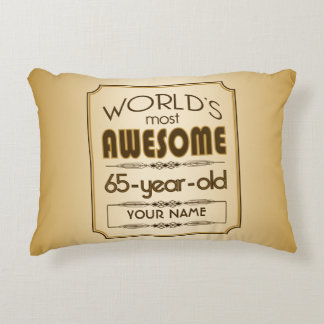 Gold 65th Birthday Celebration World Best Fabulous Accent Pillow