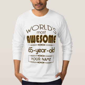 Gold 65th Birthday Celebration World Best Fabulous T-Shirt