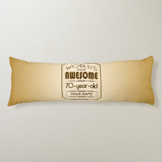 Gold 70th Birthday Celebration World Best Fabulous Body Pillow