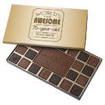 Gold 75th Birthday Celebration World Best Fabulous 45 Piece Box Of Chocolates at Zazzle
