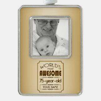 Gold 75th Birthday Celebration World Best Fabulous Christmas Ornament