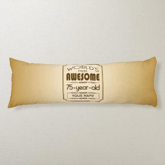 Gold 75th Birthday Celebration World Best Fabulous Body Pillow