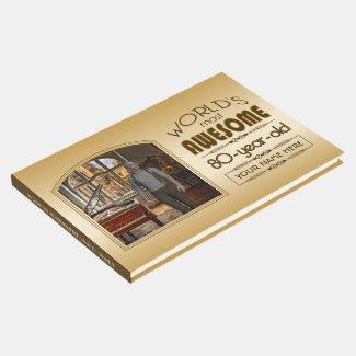 Gold 80th Birthday World's Best Custom Photo Frame Guest Book
