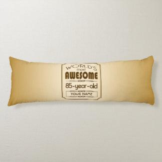 Gold 85th Birthday Celebration World Best Fabulous Body Pillow