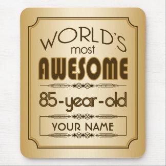 Gold 85th Birthday Celebration World Best Fabulous Mouse Pad