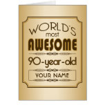 Gold 90th Birthday Celebration World Best Fabulous Card