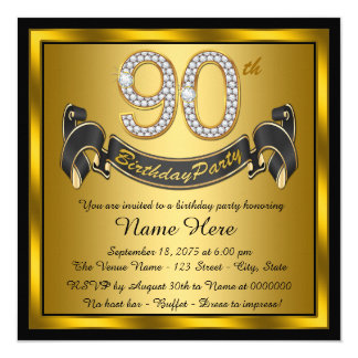 90th Birthday Invitations 1300 90th Birthday Announcements Invites