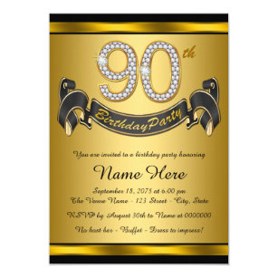 90th Birthday Party Invitations Announcements Zazzle