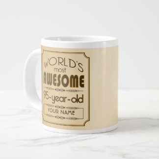 Gold 95th Birthday Celebration World Best Fabulous Giant Coffee Mug