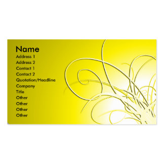 Gold abstract business card