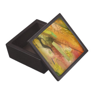 Gold Abstract Design Gift Box