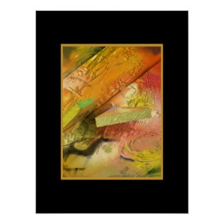 Gold Abstract Design Poster