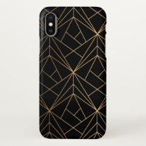 Gold Abstract Geometric Pattern | iPhone X Case