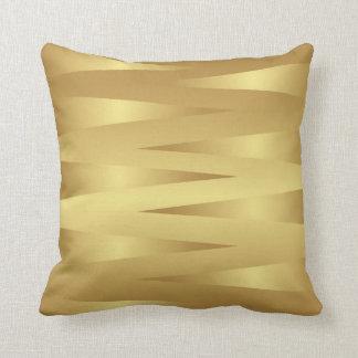 Gold Abstract Home Decor Pillow