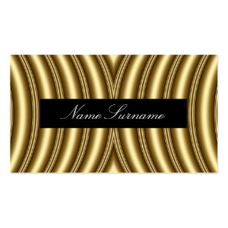 Gold Abstract Modern classy Business Card