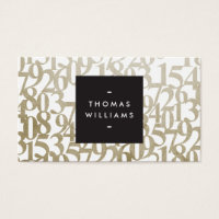 Numbered business cards templates zazzle numbered business cards gold abstract numbers for accountants accounting colourmoves