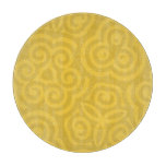 Gold Abstract Pattern Cutting Board