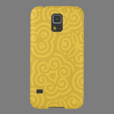 Gold Abstract Pattern Galaxy S5 Covers