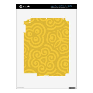 Gold Abstract Pattern iPad 3 Decals