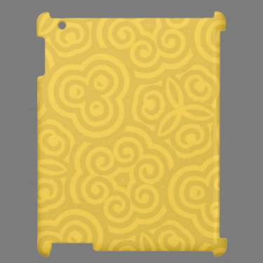 Gold Abstract Pattern iPad Cover