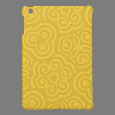 Gold Abstract Pattern iPad Mini Cases
