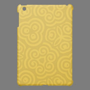 Gold Abstract Pattern iPad Mini Covers