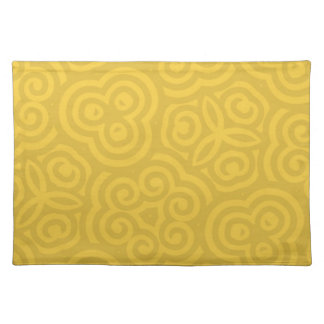 Gold Abstract Pattern Placemat
