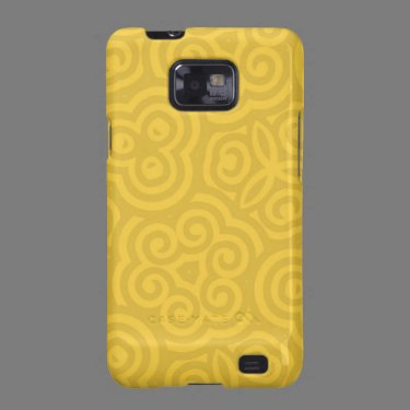 Gold Abstract Pattern Samsung Galaxy S Case
