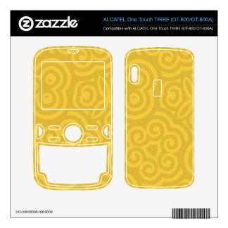 Gold Abstract Pattern ALCATEL Tribe Skins