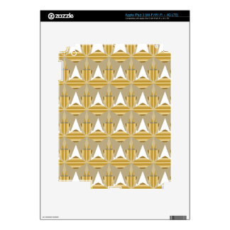 Gold Abstract Decals For iPad 3