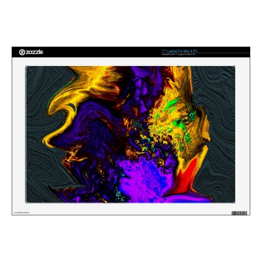 """Gold Abstract Textured 17"""" Laptop Decals"""