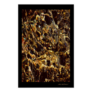 GOLD ABSTRACTION POSTER
