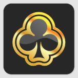 Gold Ace of Clubs Sticker