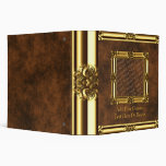 Gold Add Your Photo Leather Look Binder