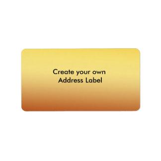 Gold Address Label Custom Address Label