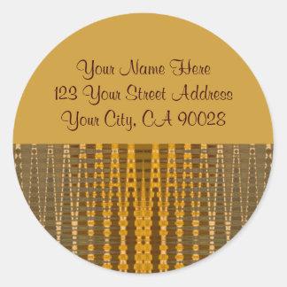 Gold Address Labels Classic Round Sticker
