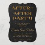 Gold After After Party Divorce Celebration Invite