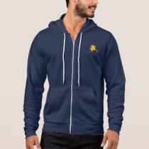 Gold Alaska Map Shape Navy Hoodie